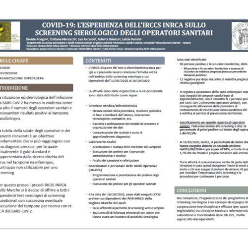 Arsego – COVID-19: L'ESPERIENZA DELL'IRCCS INRCA SULLO SCREENING SIEROLOGICO DEGLI OPERATORI SANITARI