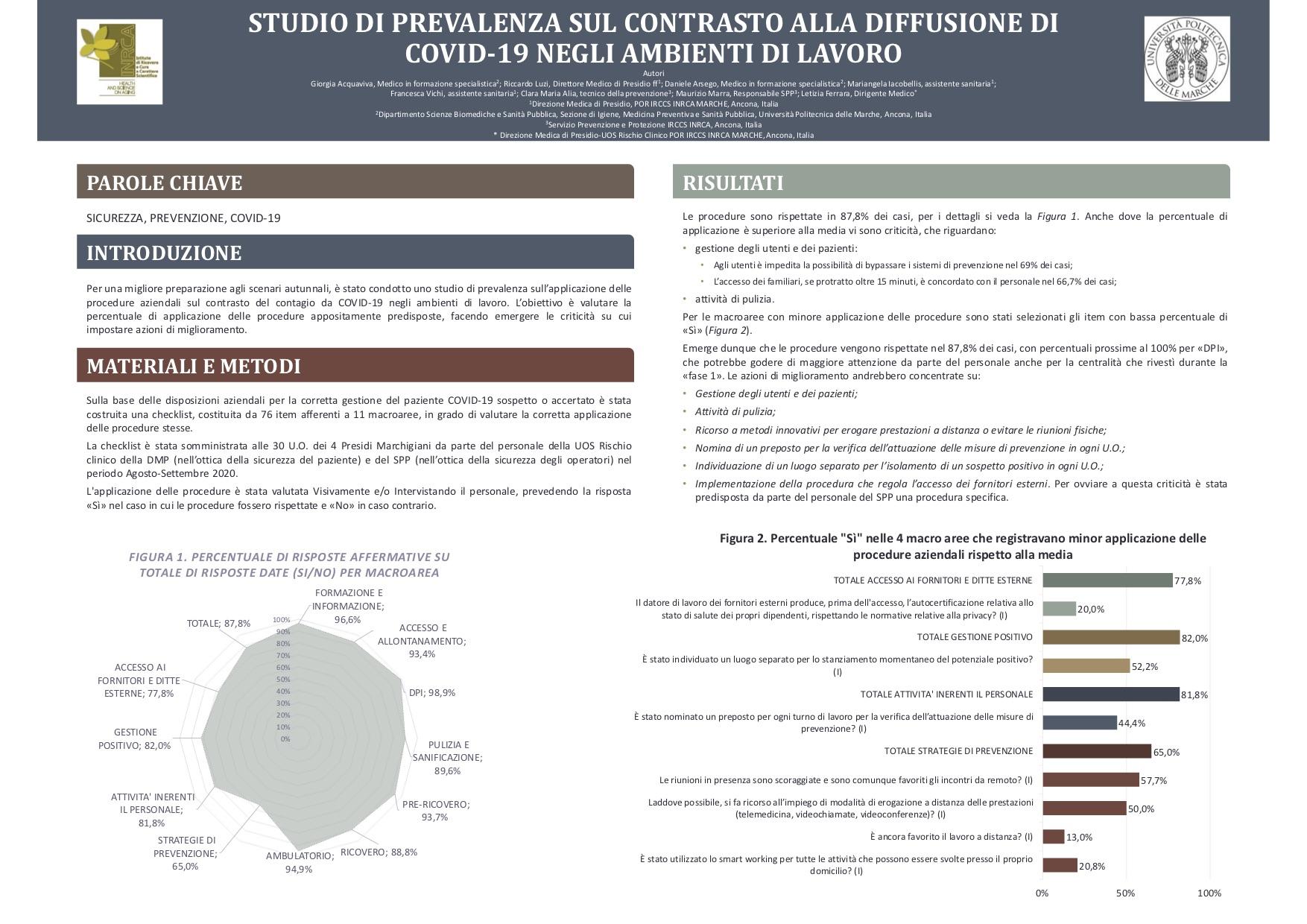 Acquaviva –  STUDIO DI PREVALENZA SUL CONTRASTO ALLA DIFFUSIONE DI COVID-19 NEGLI AMBIENTI DI LAVORO