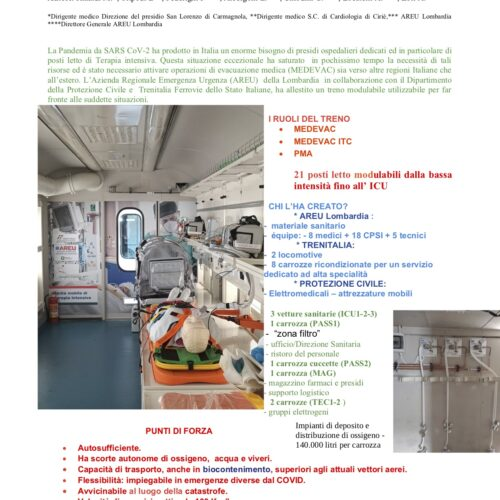 Rinaldi – IL TRENO SANITARIO MEDICAL EVACUATION INTENSIVE CARE TRAIN